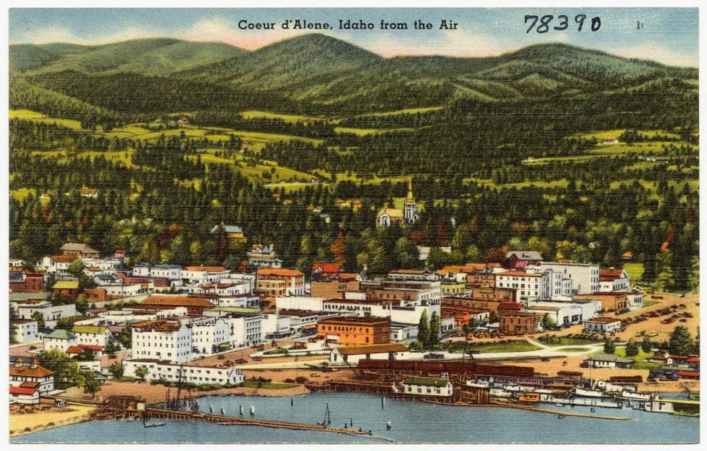 Coeur d'Alene, Idaho from the air (78390)