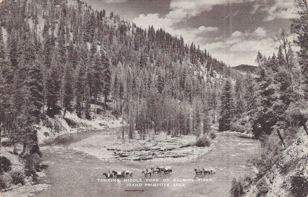 Fording Middle Fork of Salmon River
